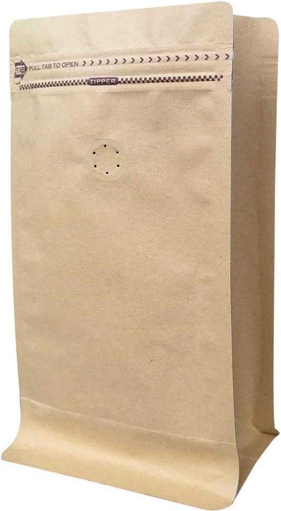 Coffee Bags 1 Lb - Kraft Paper Stand up Pouches Bags with Valve - 16oz (50 Pieces) (50, 1lb / 16oz)