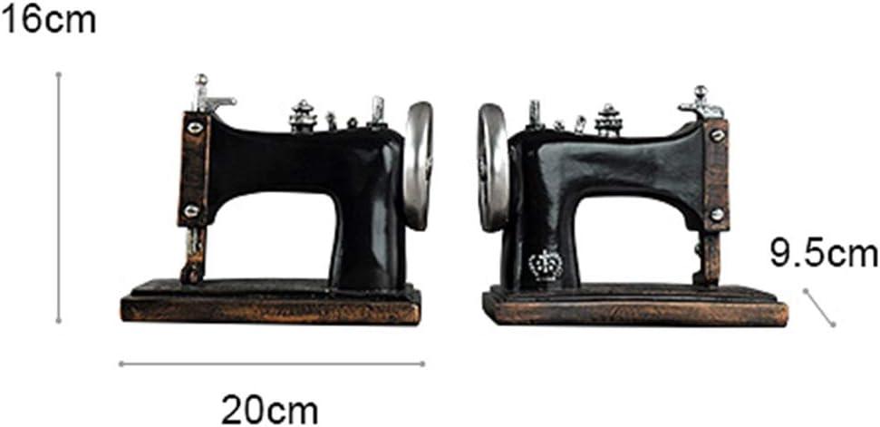 QXTT Vintage Máquina De Coser Sujetalibros Estatuas Decorativas ...