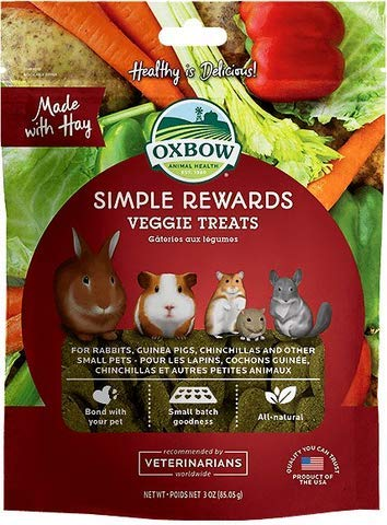 Oxbow Simple Rewards Veggie Treats For Rabbits, Guinea Pigs, Hamsters and Other Small ()
