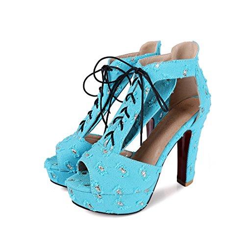 i i 36 sandali impermeabile sandali le ai scarpe sandali blu sexy sandali cave sandali sandali tavoli 4rZqx4z