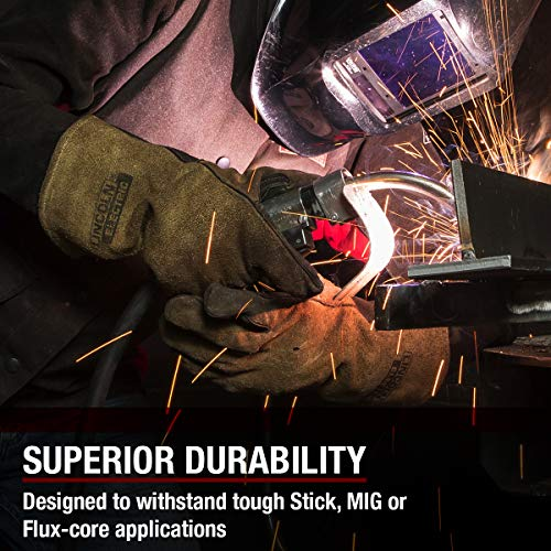 Lincoln Electric Heavy Duty MIG/Stick Welding Gloves   Heat Resistant & Durabilty   Large   K4082-L by Lincoln Electric (Image #3)