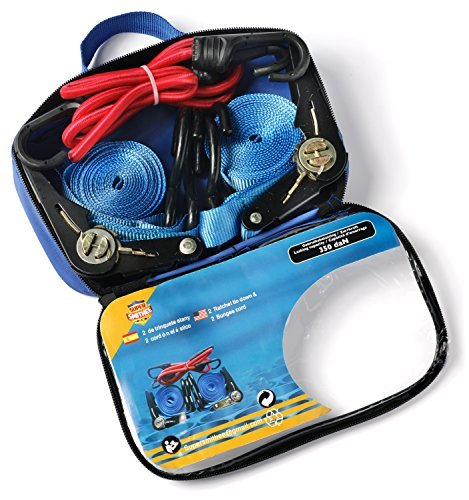Ratchet Straps Bungee Cords with Hooks By Super Smithee Heavy Duty Tie Downs all in Convenient Carrying Case Great Gift