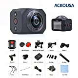 Acko Portable Mini 360 Degrees HD VR Super Wide Fisheye Lens Panoramic Wifi 30fps Digital Sports Action Video Camera DV
