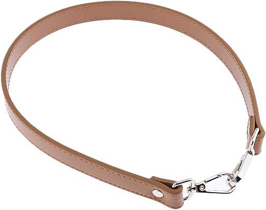 Amarillo F Fityle 64cm Correa de Reemplazo Cuero PU con Broche de Langosta Met/álico Desmontable para Bolso de Hombro//Mano