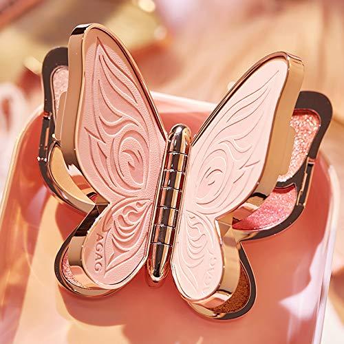 アイシャドウパレット、アイシャドウミニマルチパレット アイ パレット 3色日常バタフライアイパレット通勤 高発色 持続する 独特粉質 メイクパレット (01)