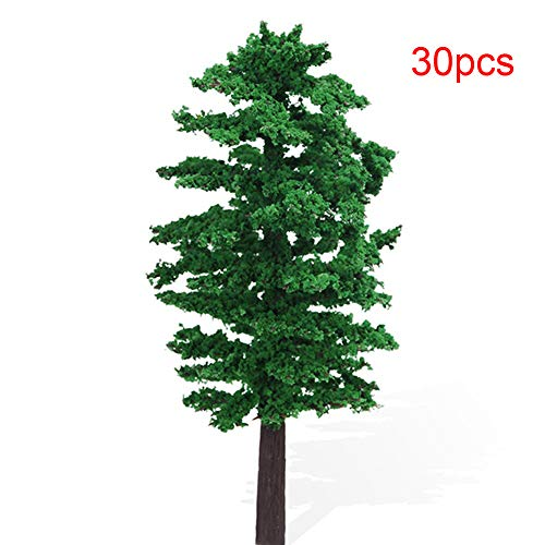 NW 30pcs 3.15inch Model Trees Model Train Scenery Architecture Trees Model Scenery with No Stands