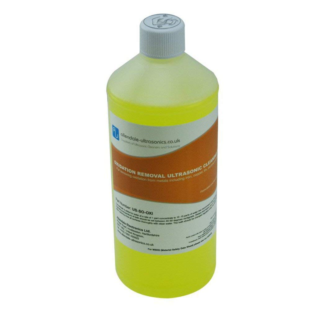 Oxidation and Rust Removal Ultrasonic Cleaner Solution - 1 Litre Cleaning Fluid by Allendale Ultrasonics