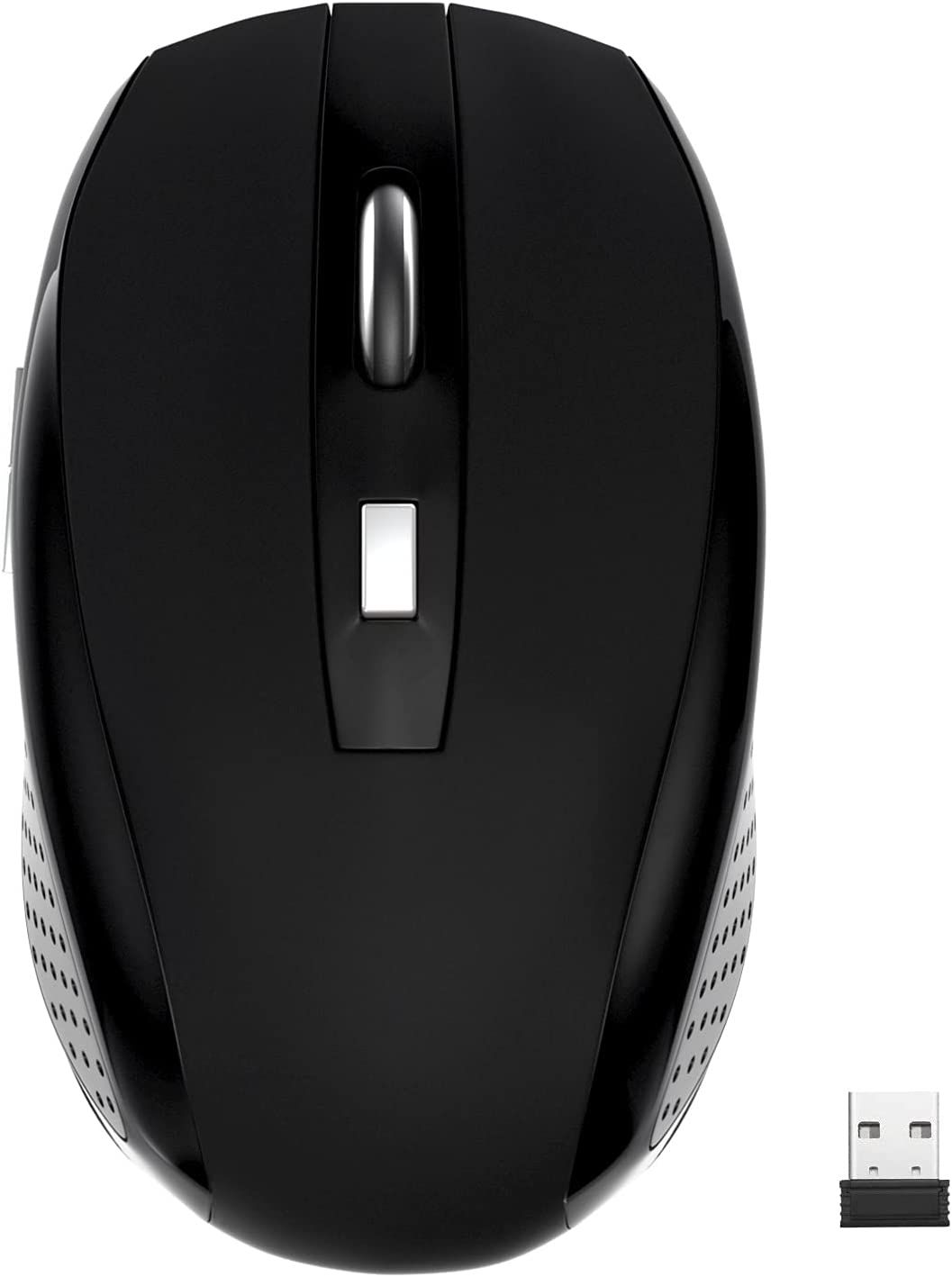 Wireless Mouse,2.4Ghz Wireless Mouse Computer Mouse 1200DPI ,6 Buttons with Nano Receiver for Laptop,PC,Chromebook,Computer,Notebook,Office (Black)