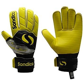 Sondico Mens EliteRoll Goalkeeper Gloves Football Training Sports  Accessories Black Yellow 11 33397380a3d6