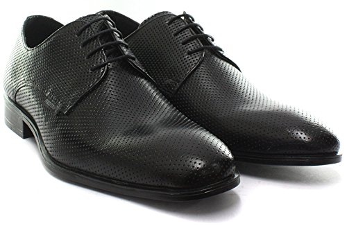 Red Tape Black Leather Mens Formal Lace Up Shoes NXScC