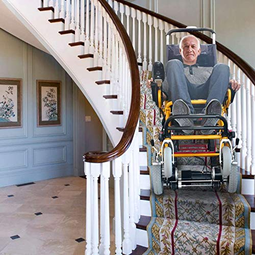 Mobility Scooter 400lb Capacity-Fabio stairlift-Electric Wheelchair-Electric Folding Mobility Aid-Wheelchairs Lightweight Folding,Can Climb up and Down Stairs