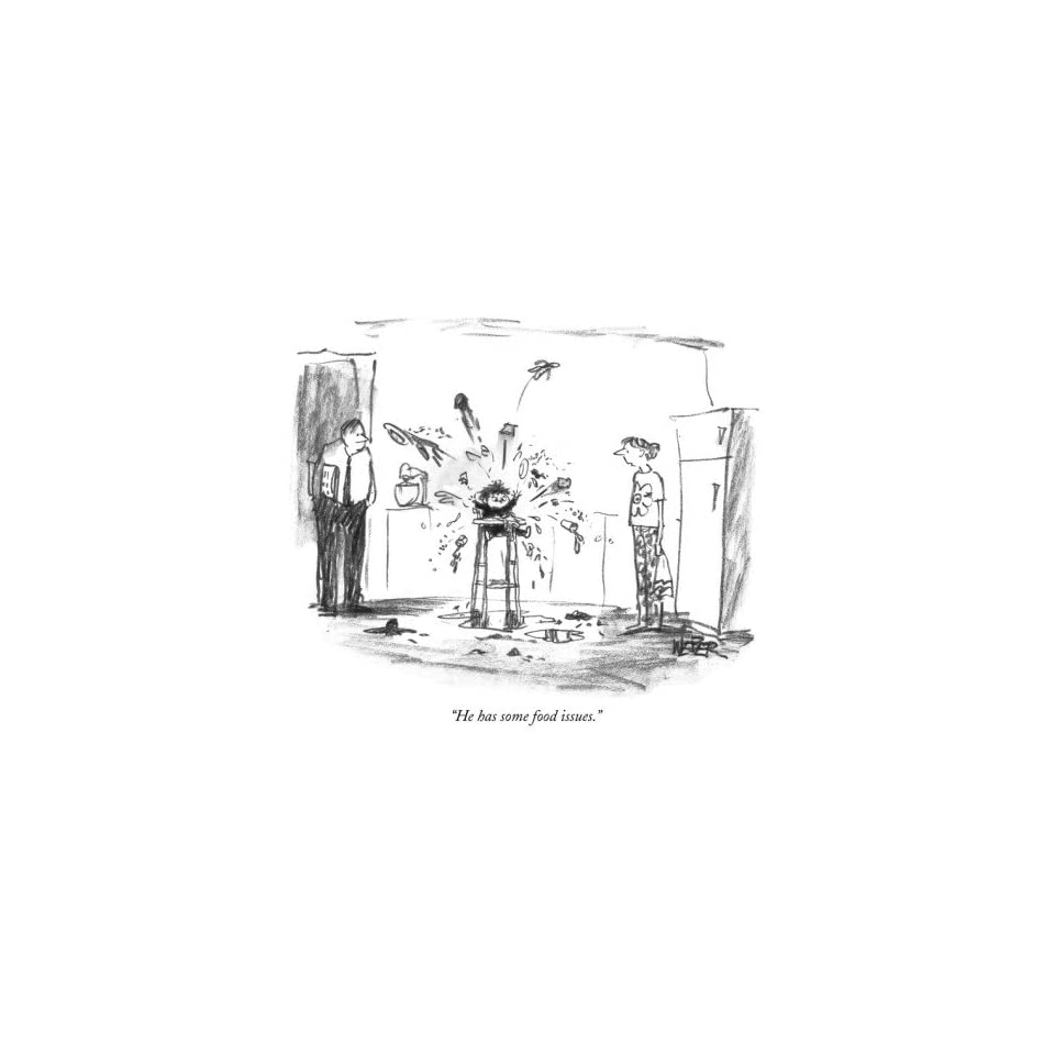 """The New Yorker   Refrigerator Cartoon Magnet   """"He has some food issues."""" Kitchen & Dining"""