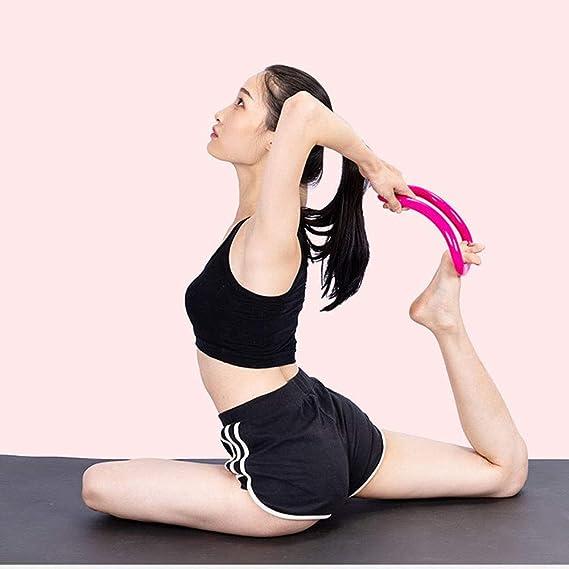HJUN Pilates Ring Workout Yoga Circle (2 Pack) para Yoga ...
