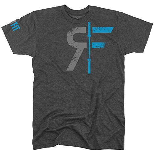 Rokfit Mens Original Rf Logo Shirt  Medium  Heather Charcoal