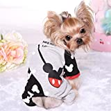 PetsLove Pet Hoodies Clothes Dog Coat Outwear for Cold Weather for Boys Black XS