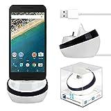 Google Nexus 6P/5X OnePlus Two 2 Dock Charger, Lookatool® USB Type-C Cradle Charger Dock For Google Nexus 6P/5X OnePlus Two 2 (Black)