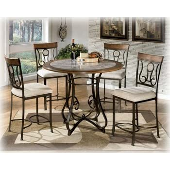 Signature Design By Ashley D314 13T Hopstand Collection Counter Height Dining  Room Table Top,