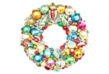 Vintage glass ornament wreath shiny brite ornaments holiday christmas kurt adler radko holiday door
