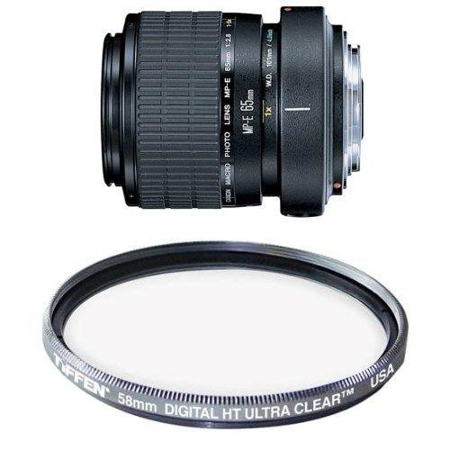 (Canon MP-E 65mm f/2.8 1-5X Macro Lens for Canon SLR Cameras Filter Bundle)
