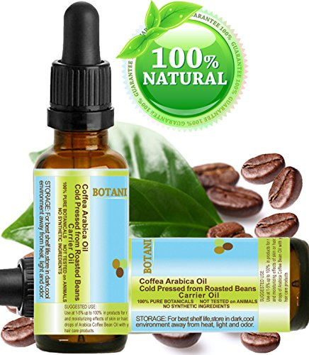 ARABICA COFFEE BEAN OIL Brazilian. 0.33 Fl.oz- 10 ml. 100% Solid / Roasted / Premium Quality for Skin, Hair, Lip and Nail Care