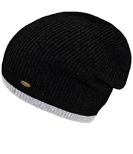 45215 Hombres incl Invierno Hutfibel Negro FI EveryHead Sombrero Para Fiebig W16 HE0 Lana Beanie Hombre Colores Dos Punto Gorro De AXaPO