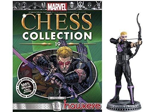 Marvel Chess Figure & Magazine #19: Hawkeye White Pawn by Eaglemoss Publications