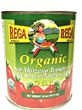 Organic San Marzano DOP Authentic Whole Peeled Plum Tomatoes - 28 oz cans (Pack of 6)