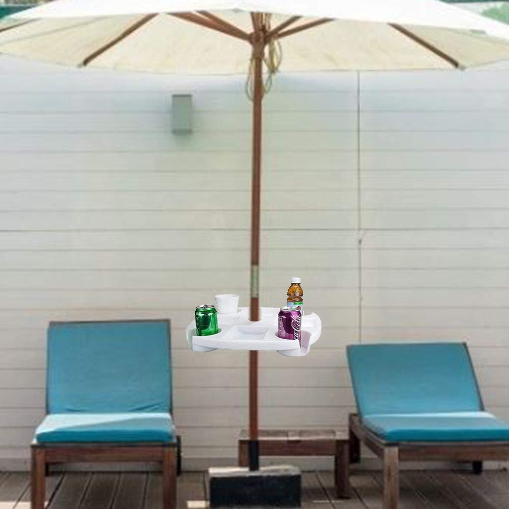 Ardorman Ombrellone da Spiaggia Piscina tavolino per ombrellone Standard per Giardino Teller Vassoio con portabibite Supporto per ombrellone portabibite Scomparto per Snack