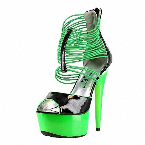 Ellie 609 Adore Womens Pumps Shoes Green