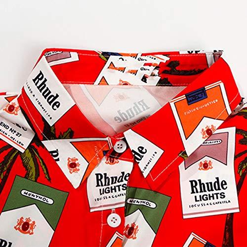 Jahurto Coton Blouse en Red Manches Courtes Courtes Manches rwvFqAxr