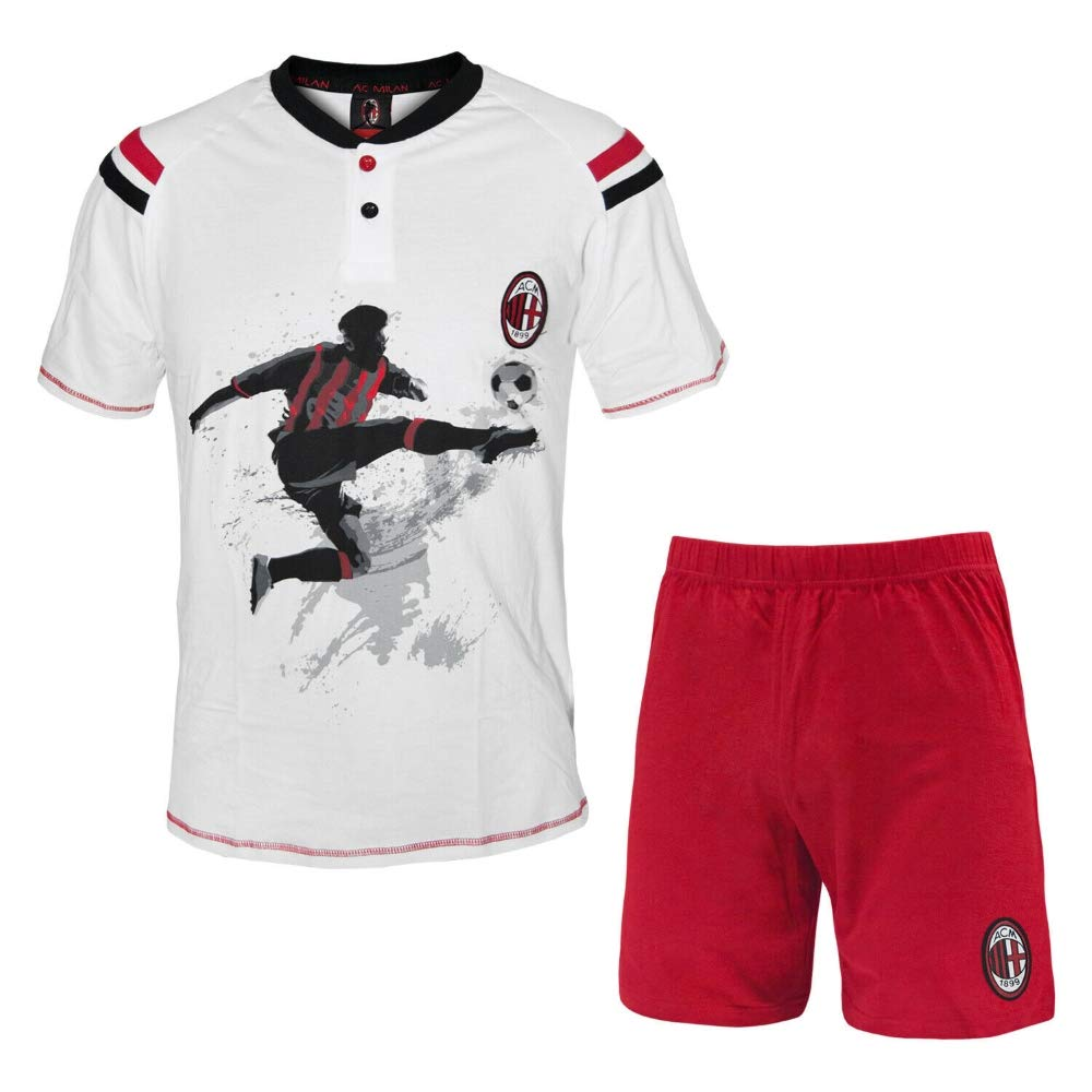 Pigiama Uomo AC Milan Corto Abbigliamento Estivo PS 30031