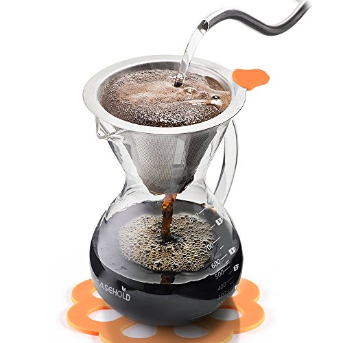 Easehold Pour Over Coffee Maker Drip Brewer Borosilicate Glass Carafe 800ml | eBay