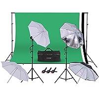 Andoer Background Support Equipment Video Photo 45W 5500K Bulb Photography Studio Kit