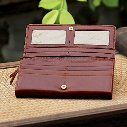NOVICA Brown Leather Clutch, 'Touch of Love in Rust' by NOVICA (Image #4)