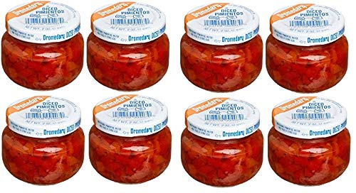 Dromedary Diced Pimentos - Pack of 8 Jars of Diced Pimientos - Great Value