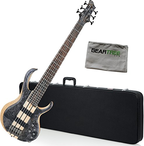 Ibanez BTB846DTL BTB Standard 6-String Electric Bass Deep Twilight Low Gloss w/ Hard Case and Polish Cloth (Bass Standard 6 String)