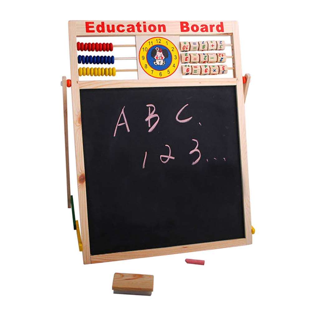 Aland-Abacus Wooden Letters Numbers Blackboard Magnetic Board Kids Educational Toys by Aland (Image #4)