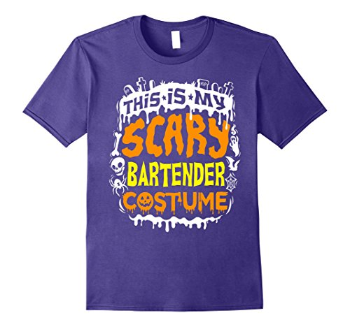 Mens This Is My Scary Bartender Costume T-Shirt - Halloween Small (Restaurant Halloween Costume Ideas)