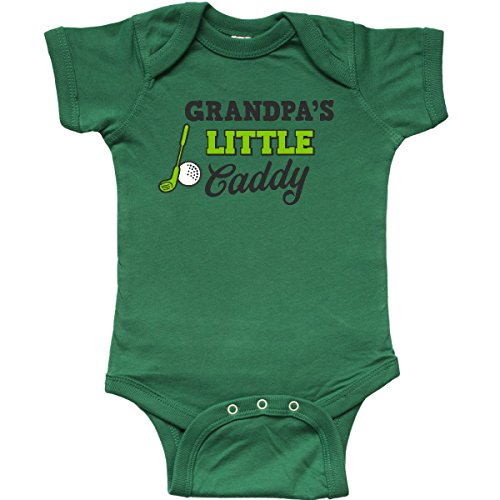 inktastic - Grandpas Little Caddy with Infant Creeper Newborn Kelly Green 2c5ca