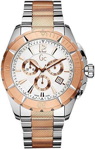 Guess Collection X73008M1S 42mm Gold And Platinum Synthetic Sapphire Women's Watch