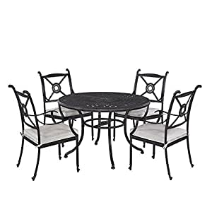 """Home Styles 5569-328 Athens 5 Piece Dining Set with 48"""" Dining Table and Four Arm Chairs"""