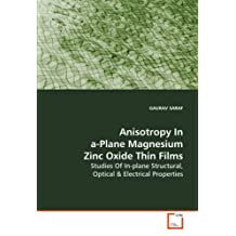Anisotropy In a-Plane Magnesium Zinc Oxide Thin Films: Studies Of In-plane Structural, Optical