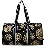 NGIL Quilted Weekend Travel Overnight 20'' Large Duffle Bag 2018 Spring Collection (Mandala Dream Black)