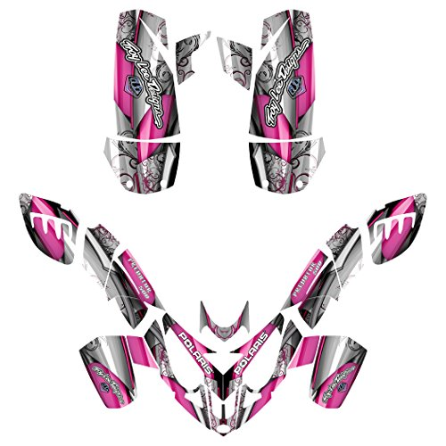 Polaris Predator 500 ATV Graphics Decal Kit By Allmotorgraphics No8800 Hot Pink fits all years