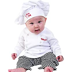 Baby Toddler Fancy Dress Chef Cook Outfit Halloween Costume Birthday Party Sets 18-24Monthes White