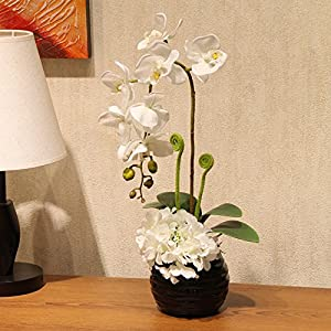 Emulation flower artificial flowers feel too glue the moth orchid kit floral artificial flowers living room home dining table ornaments 49×22cm 69