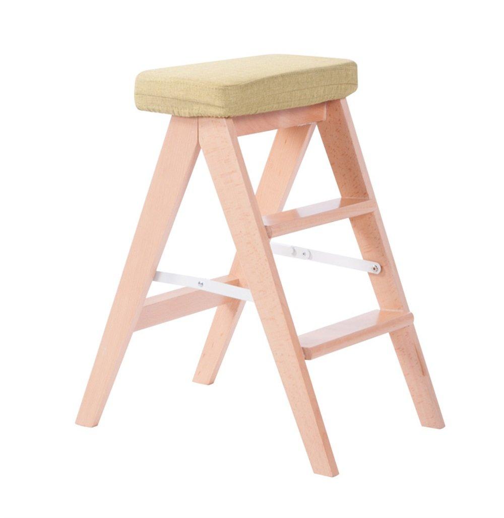 Farbe : #1 Klappstufen Massivholzhocker K/üche Klappstuhl Kreative Leiter Hocker f/ür Home Adult Climb Hocker Stuhl