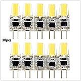 Zehui G4 LED Bulb 12V LED COB Bulb Replace Halogen Lamp High Bright for Chandelier 10pcs Warm White 3W