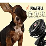 Image of Battery Powered Fan Clip on Rechargeable Portable Mini USB for Table Stroller Outdoor, Black