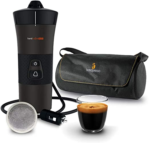Handpresso - Handcoffee Auto 48264 + bolsa 48325 – Máquina de café portátil con dosis Senseo para coche 12 V: Amazon.es: Hogar